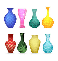 modern vases collection vector image