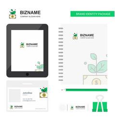 Money plant business logo tab app diary pvc vector
