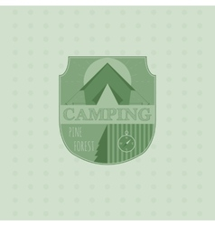 Outdoor adventure badge and forest logo emblem vector image