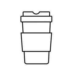paper coffee cup take out disposable plastic vector image