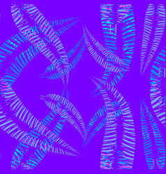 pattern of blue and blue feathers and leaves on a vector image