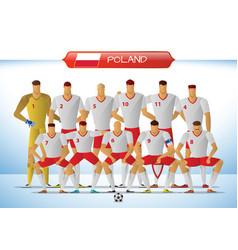 poland national football team for international vector image