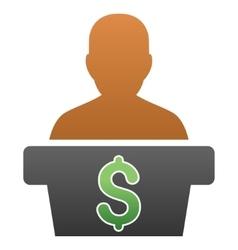 Politician Business Gradient Icon vector