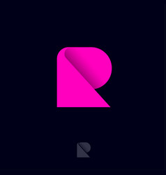 R logo abstract monogram pink geometric element vector