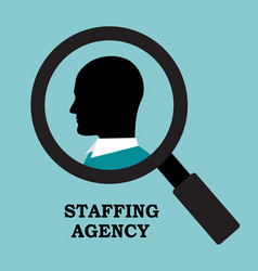 Recruitment agency is looking for an employee vector