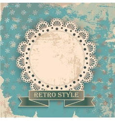 Retro background with napkin vector
