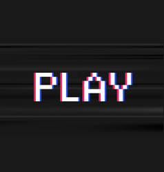Retro digital type computer video game stule word vector