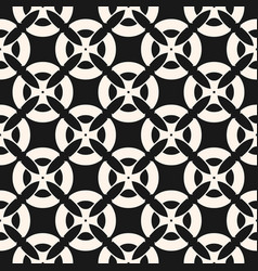 seamless pattern with mosaic tiles black vector image