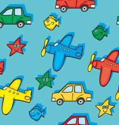 Seamless toys vector