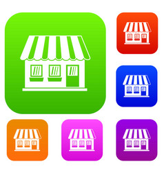 shop set collection vector image