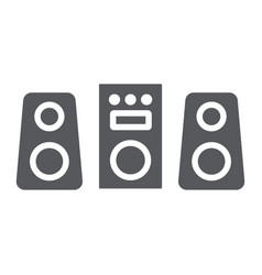 sound system glyph icon party and music stereo vector image