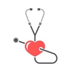 Stethoscope Heasrt Icon vector