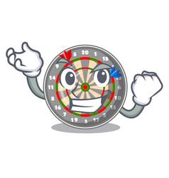Successful dartboard in the shape of mascot vector