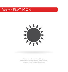 sun icon for web business finance and vector image