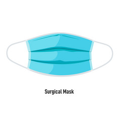 surgical mask protecting from pandemic corona vector image
