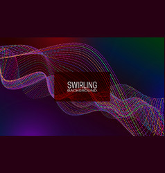 Swirling background design with multicoloured vector