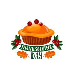 Thanksgiving day pumpkin dinner pie symbol design vector