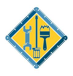 tool repair symbol vector image vector image