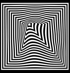 torsion pattern optical geometric design vector image