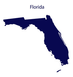united states florida dark blue silhouette the vector image