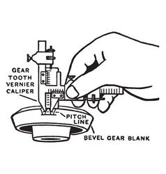 Vernier caliper vintage engraving vector