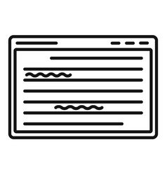 Web editor icon outline style vector