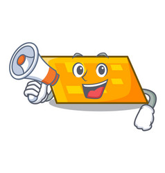 with megaphone parallelogram character cartoon vector image