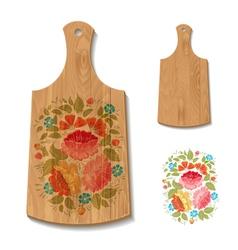 wooden utensil1 vector image
