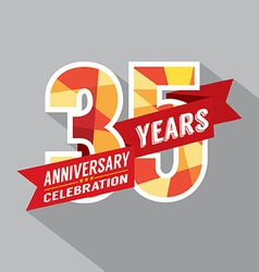 35th years anniversary celebration design vector