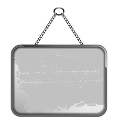 black and white frame on a chain vector image