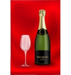 bottle of champagne vector image vector image