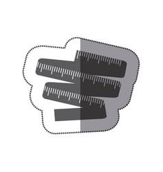 contour measuring tape icon vector image vector image