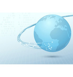 Earth broadband cable connection background vector image