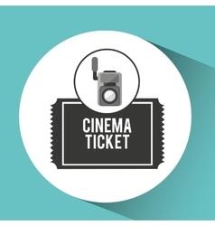 movie video camera cinema ticket vector image vector image