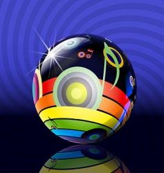 musical ball vector image