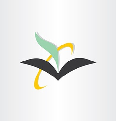 book and feather education icon vector image