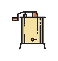 radial centrifugal honey extractor thin line icon vector image
