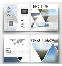 Set of square design brochure template Abstract vector image