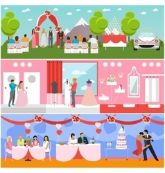 Wedding ceremony design banners Party vector image vector image