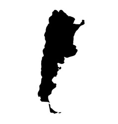 Black silhouette country borders map of argentina vector