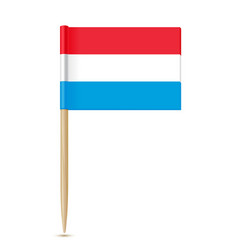 Luxembourg flag toothpick vector