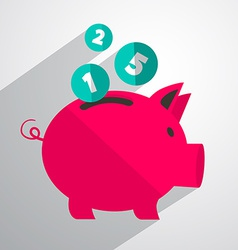 Money Pig Bank vector image vector image