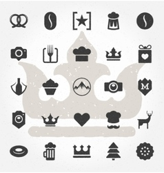 Retro Hand Drawn Logos Design Elements vector image