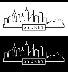 Sydney skyline linear style editable file vector