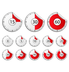 timer stickers vector image vector image