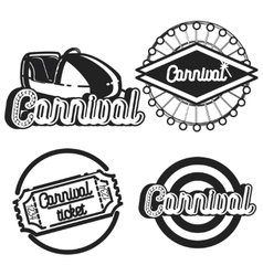 Vintage Amusement park emblems vector image