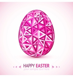 Abstract geometry triangles pink easter egg vector image vector image