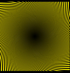 black yellow twist abstract background vector image