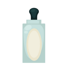 liquid soap in transparent bottle with empty label vector image