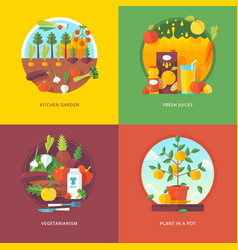 set of flat design concepts for vector image